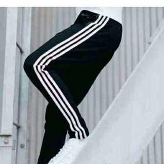 Unisex adidas look jogging track pants dri-fit material