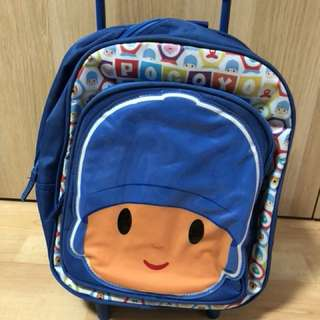 Kids / Toddler Pocoyo Bag with roller