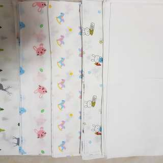 Baby 100%cotton guaze hankie 5 for 8dollars