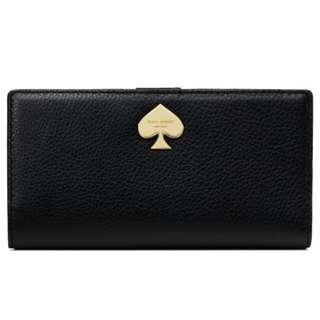 Kate Spade Leroy Street Stacy Leather Wallet, Black