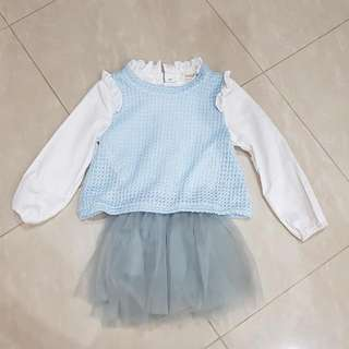 Long Sleeve School Girl Dress