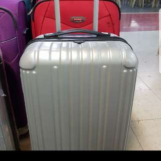 Luggage Bag trolley small handcarry gray black silver 15kls