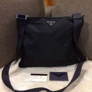 Authentic Prada Sling Bag With Card