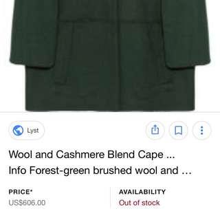 Vanessa Bruno cape coat