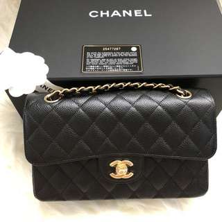 Chanel 2018 Classic Double Flap Bag Caviar New