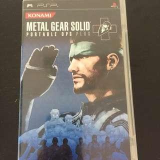 Metal Gear Solid PSP Games