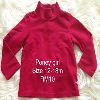 Poney long sleeve top