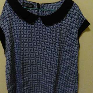 Blue blouse3xl