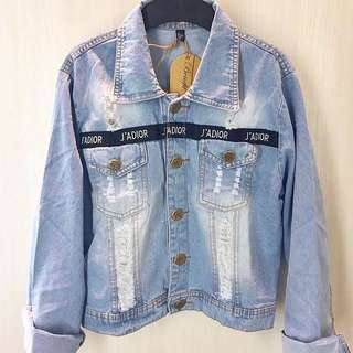 Jaket jeans celana baju bershka stadivarius top zara branded atasan