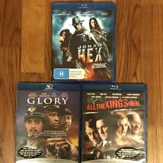 12 Blu Ray Movies