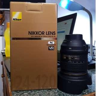 AF-S Nikon 24-120mm f/4G ED VR Lens (with Golden Box)