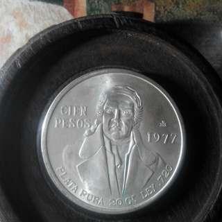 爆光!1977年墨西哥鷹洋大銀幣