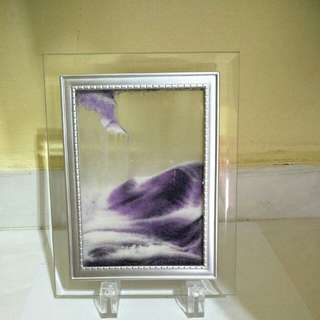 Moving Sand Art Liquid Glass Picture Photo Frame Home Decoration#Huat50Sale