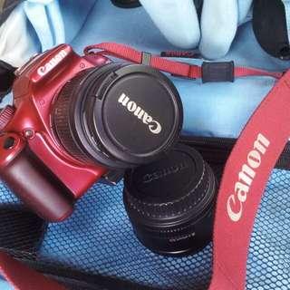 Camera canon +2 lence +bag+.......