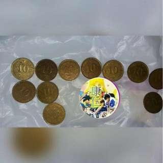 當年 一毫  1毫 0.1元 香港 英女皇 1982 1983 1985 1987 1989  十一個