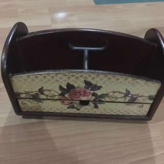 Wooden jewellery box - hand made wooden box bottom can turn see on the picture show n two section n drawer very clean hardy use n Colour still good condition 10/10 fast deal Org I bought was $59