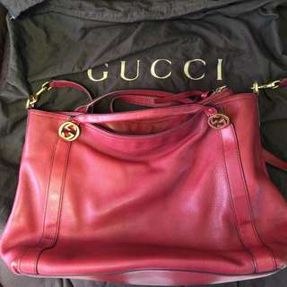 Gucci miss GG leather top handle bag