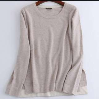 (USED) Theory 100% cashmere sweater (Size M, light beige colour)