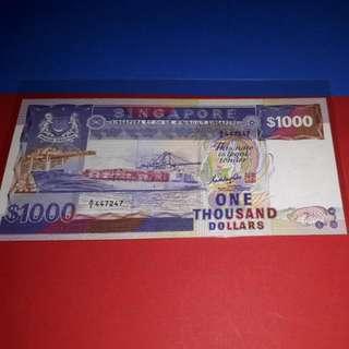 $1000-SHIP AUNC ORIGINAL PAPER