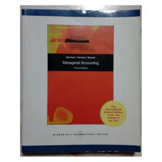 Managerial Accounting. 13th edition. Garrison/Noreen/Brewer