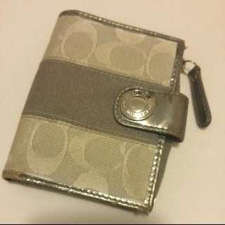 Coach Silver Grey Wallet