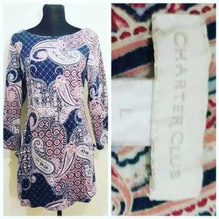 CG001 Charter Club Dress Medium to Large - 399php  Comment: MINE/M = SOLD  🚫NO TO JOYRESERVER🚫  #ukayukayph #ukayph #thriftshopph #forever21ph #h&mph #uniqloph #manilabased #lagunabased #batangasbased #preloved #prelovedph