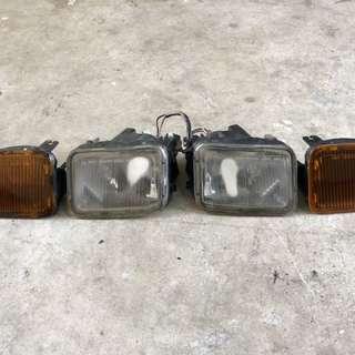 Fog Lamp dan Signal Bumper Depan Daihatsu Charade Detomaso