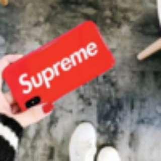 Iphone X SUPREME SOFT CASE FULL COVER CASING