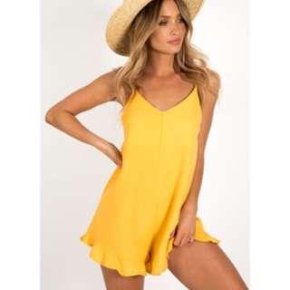 Dissh yellow playsuit - size 8