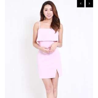 Basic Slit Dress (Pink)