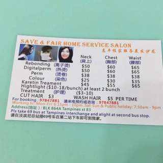 Super Cheap Home Service Salon With Good Results