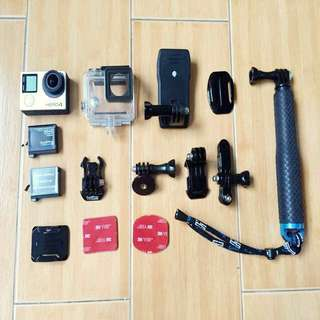 GoPro Hero4 Black with accessories