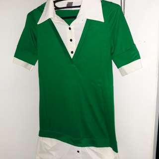 2-Layer Combined Polo Dress Shirt