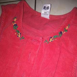Corduroy dress 5-6 yrs