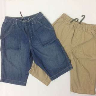 Uniqlo Kids Shorts for two (Size XL)