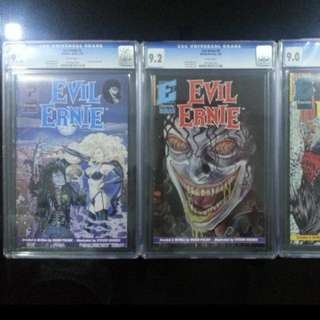 Evil Ernie 2, 3, 4, Eternity 1991, CGC Graded