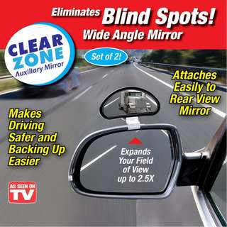 Clear Zone Auxiliary Mirror Blind Spot Mirror for Cars