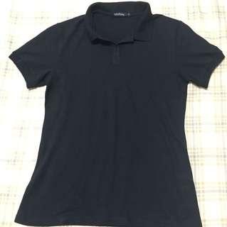 Black Folded & Hung Polo Shirt