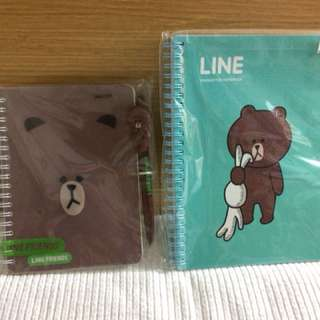 Line Brown notebook