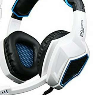 SADES SA-920 Universal Gaming Headset with Mic and Volume Control (White)