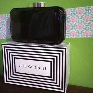Lulu guinness Black Patent Leather Fifi Clutch in Black   Lyst