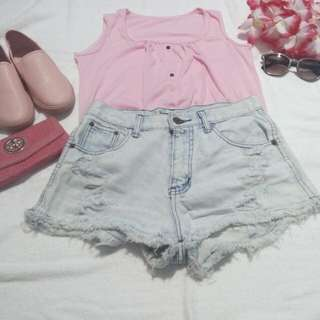 🌻Sleeveless pink top