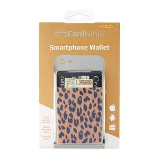 CardNinja Stick-On Wallet - Cheetah