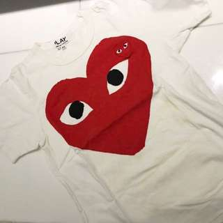 NEW Comme des Garcons Play Tshirt
