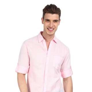 全新粉紅 男裝恤衫