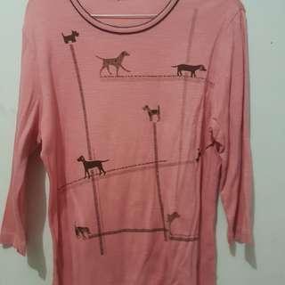 Tshirt pink kaos