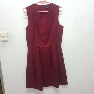 GAP Burgundy Dress with Side Pockets