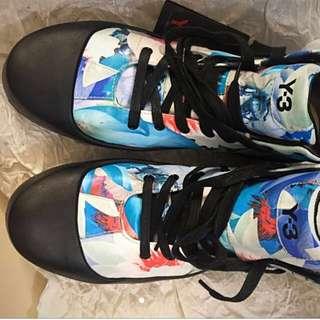 Y-3 高筒印花真皮鞋。undercover Toga Adidas Nike