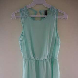 Chiffon teal Dress