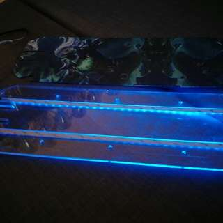 Futecher Arcylic deck with led and sticker